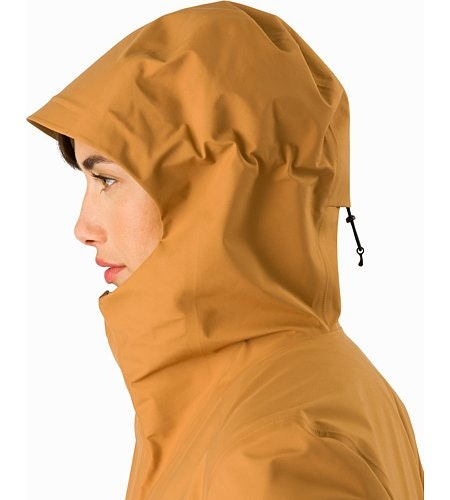 Codetta Coat Women's Ginger Root Hood Side View