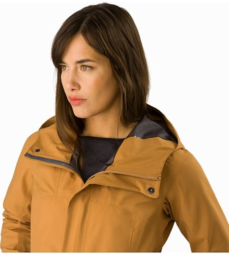 Codetta Coat Women's Ginger Root Open Collar