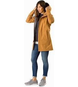 Codetta Coat Women's Ginger Root Open View