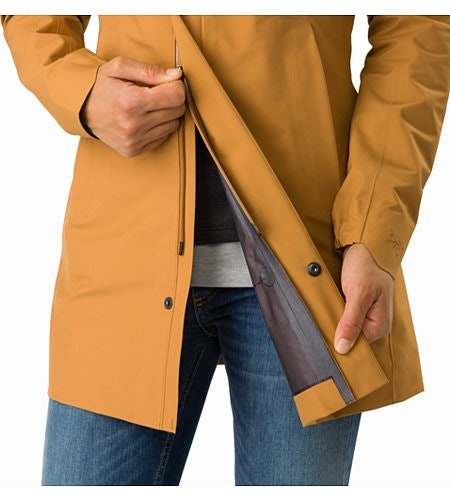 Codetta Coat Women's Ginger Root Two Way Zipper