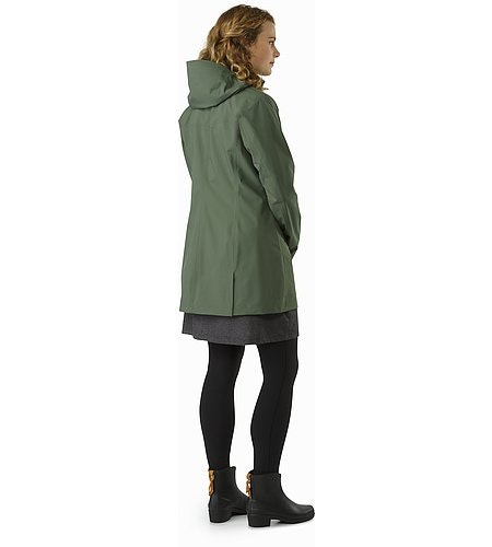 Codetta Coat Women's Shorepine Back View