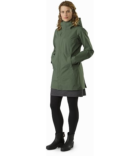Codetta Coat Women's Shorepine Front View