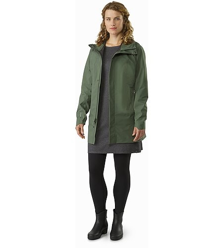 Codetta Coat Women's Shorepine Open View