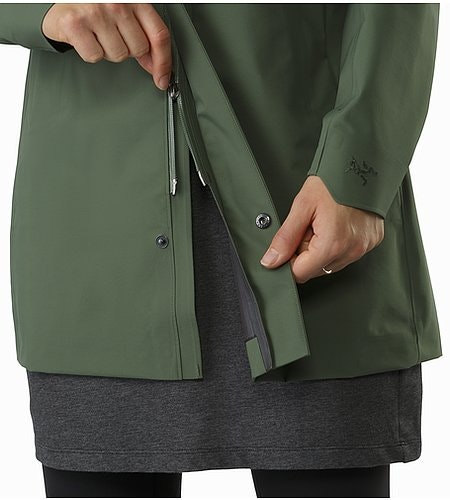 Codetta Coat Women's Shorepine Two Way Zipper