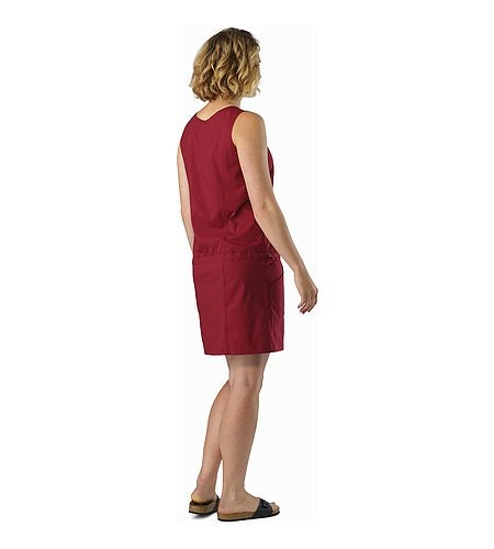 Contenta Dress Women's Scarlet Back View