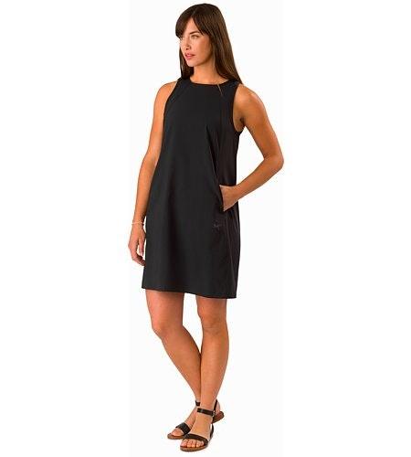 Contenta Shift Dress Women's Black Front View