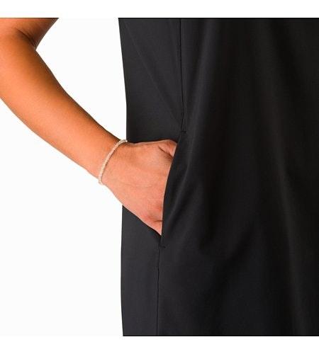 Contenta Shift Dress Women's Black Hand Pocket