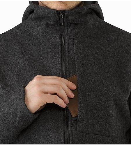 コルドバ ジャケット ブラック ヘザー 胸ポケット