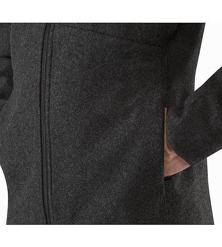 Cordova Jacket Black Heather Hand Pocket