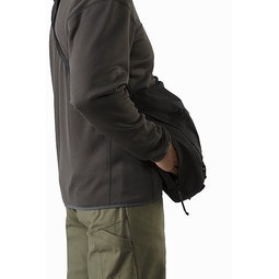 Courier Bag 15 Black Back Side Access