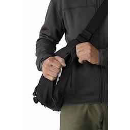 Courier Bag 15 Black Front Side Access 2