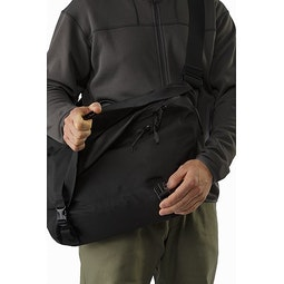 Courier Bag 15 Black Opened Flap
