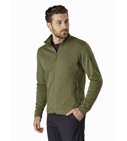 Covert Cardigan Arbour Heather Front View