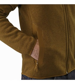 Covert Cardigan Caribou Hand Pocket