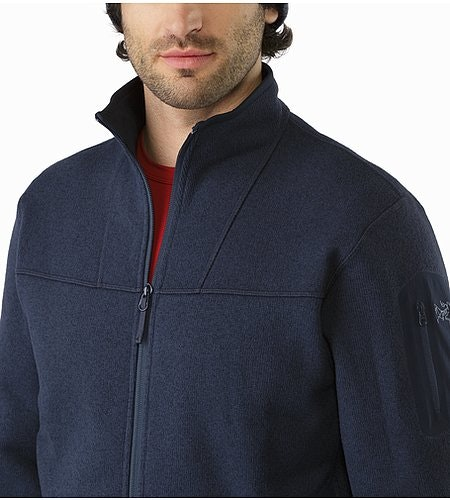 Cardigan Covert Kingfisher Col ouvert