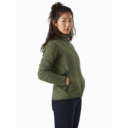 Covert Cardigan Women's Aeroponic Heather Front View
