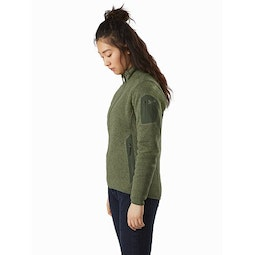 Covert Cardigan Women's Aeroponic Heather Side View