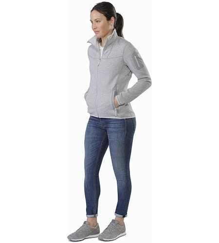 Covert Cardigan Women's Athena Grey Front View