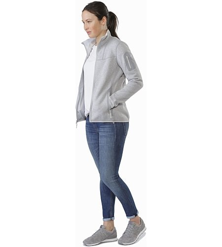 Covert Cardigan Women's Athena Grey Open View
