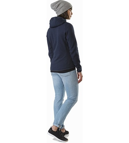 Covert Hoody Women's Black Sapphire Back View