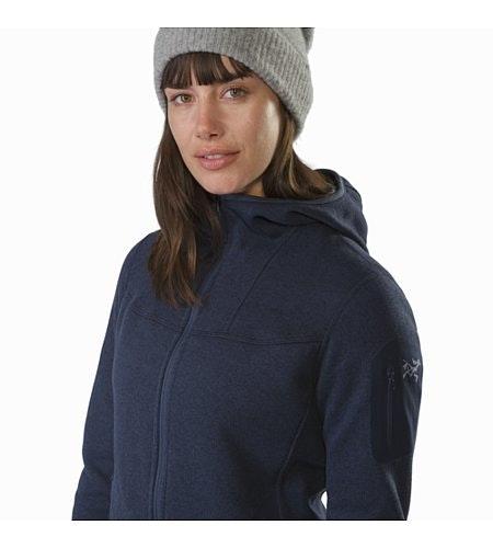 Covert Hoody Women's Black Sapphire Collar