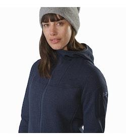 6ac05bafeab Covert Hoody Women's Black Sapphire Collar