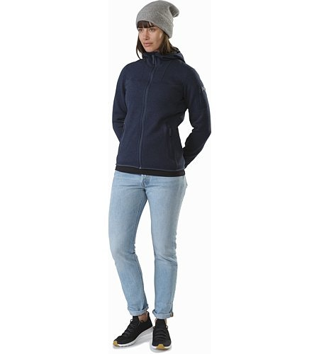 Covert Hoody Women's Black Sapphire Front View