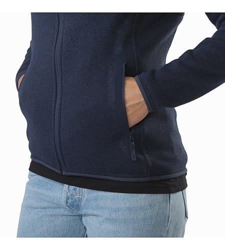 Covert Hoody Women's Black Sapphire Hand Pocket