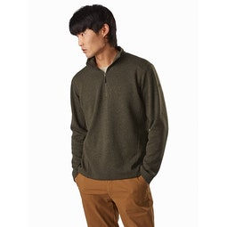 Covert LT 1/2 Zip Neck Dracaena Heather Front View