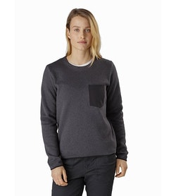 Covert Sweater Women's Whiskey Jack Heather Front View