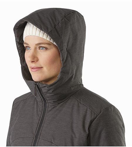 Darrah Coat Women's Carbon Copy Hood Side View