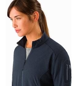Delta LT Jacket Women's Black Sapphire Open Collar