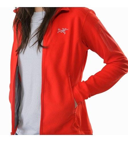 Delta LT Jacket Women's Hard Coral External Pockets