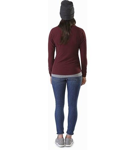 Delta LT Zip Neck Women's Crimson Back View