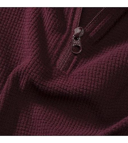 Delta LT Zip Neck Women's Crimson Fabric