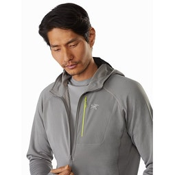 Delta MX 1/2 Zip Hoody Cryptochrome Front Zipper
