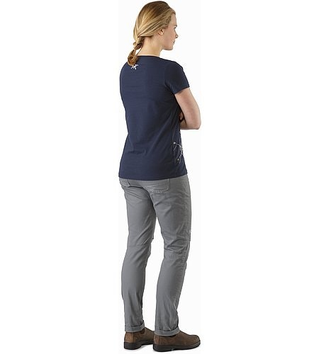 Dendrite T-Shirt Women's Black Sapphire Back View