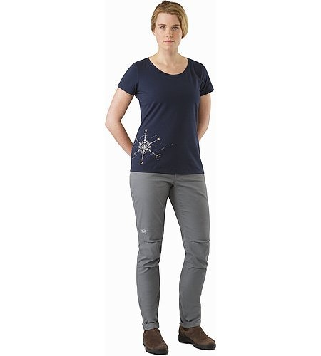 Dendrite T-Shirt Women's Black Sapphire Front View