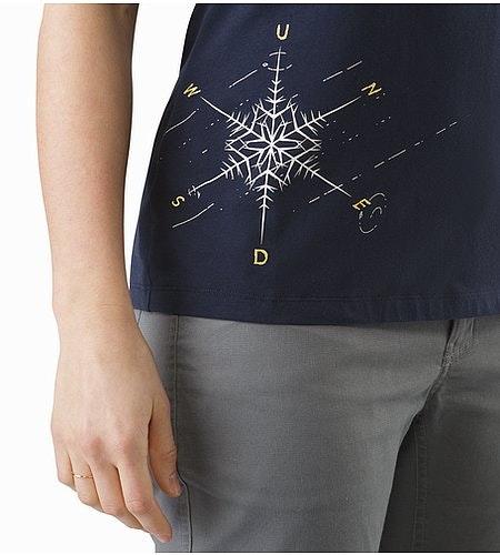 Dendrite T-Shirt Women's Black Sapphire Graphic Close Up