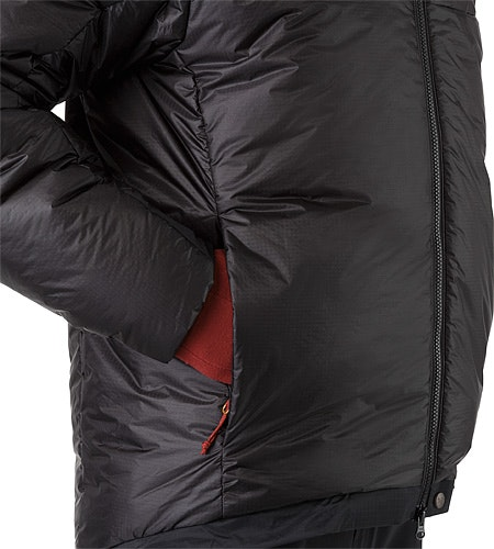 Dually Belay Parka Black Hand Pocket