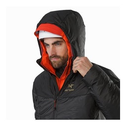 Dually Belay Parka Black Helmet Compatible Hood