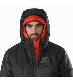 Dually Belay Parka Black Hood Front View