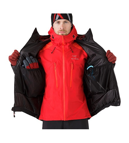 Dually Belay Parka Black Internal Pockets