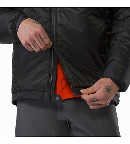 Dually Belay Parka Black Two Way Zipper