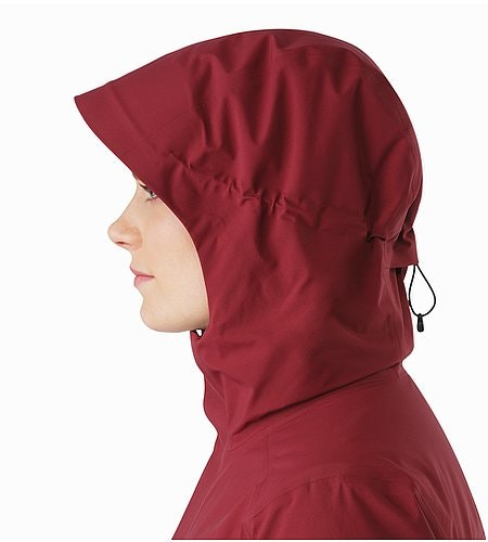Durant Coat Women's Scarlet Hood Side View