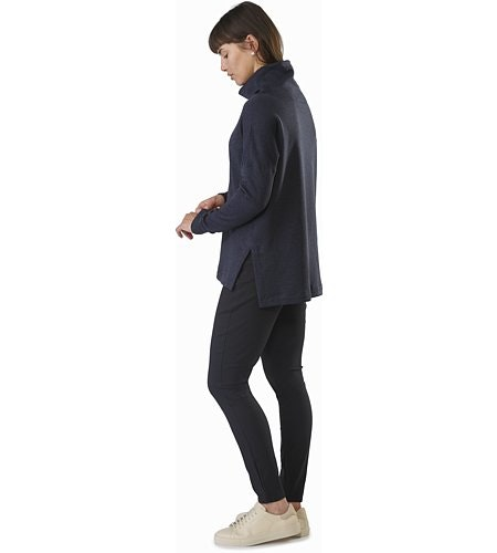 Edin Pant Women's Black Back View