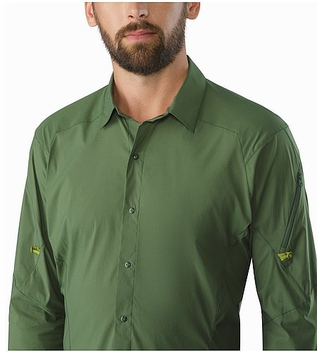 Elaho Shirt LS Cypress Open Collar