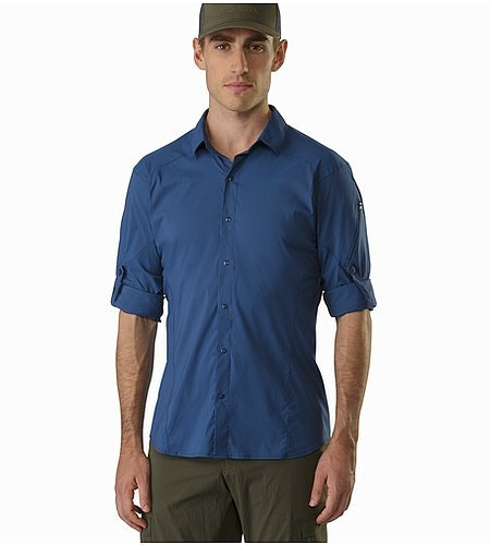 Elaho Shirt LS Nocturne Rolled Up Sleeves