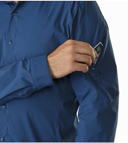Elaho Shirt LS Nocturne Sleeve Pocket