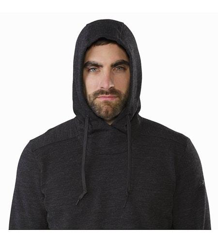 Elgin Hoody Black Hood Up